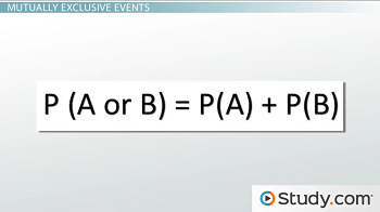 formula for a mutually exclusive event