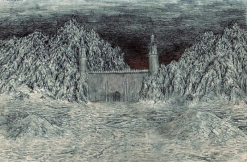 Artistic rendering of the Black Gate of Mordor