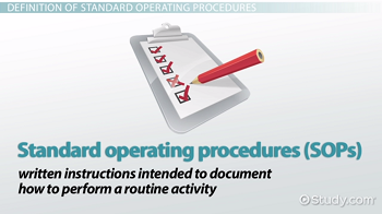 Standard Operating Procedures: Definition & Explanation - Video