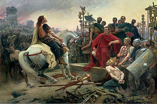 Vercingetorix surrenders to Julius Caesar