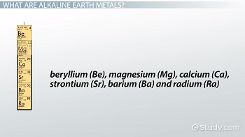 Alkaline earth metals definition properties characteristics column 2a urtaz