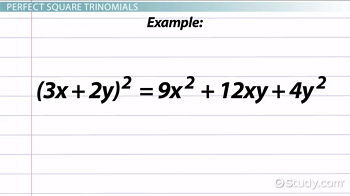 Example of a perfect square trinomial