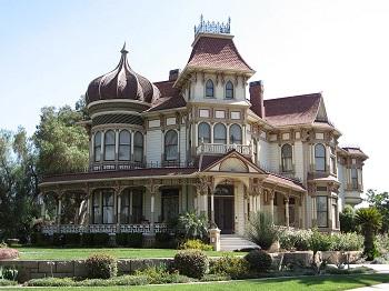Morey Mansion Built In Redlands California 1890
