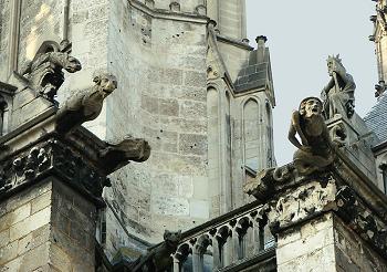 Gargoyles In Amiens France