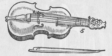 16th-century sketch of a lira da braccio by composer Michael Praetorious