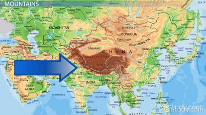 Map Of Asia Himalaya Mountains.Mapping The Physical Human Characteristics Of South Asia Video