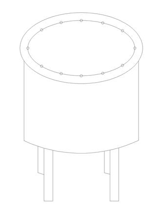 the cylindrical tank shown below is subjected to an internal