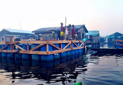 Houses on stilts in Nigeria