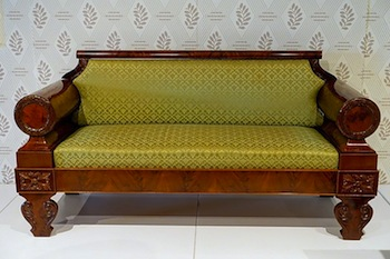 Biedermeier Furniture, Like This Couch, Was A Simplified And Streamlined  Variation On The Empire And Directoire Styles