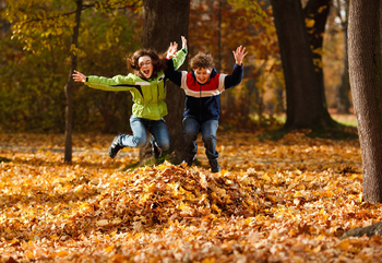 Raking leaves is a great opportunity to get your students outside in the fall while performing community service