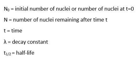 Calculating radioactive dating