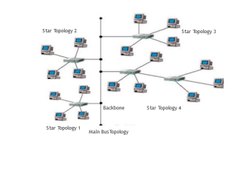 Star-Wired Bus Network Topology