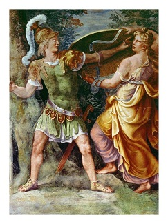 Achilles receiving his armor