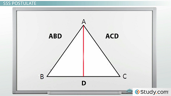 Eqilateral triangle ABC with bisector D