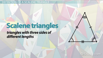 A scalene triangle