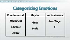 Categorizing Emotions Graph