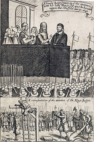 Image of execution of Charles I