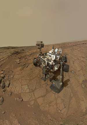 Self portrait taken by the Curiosity rover
