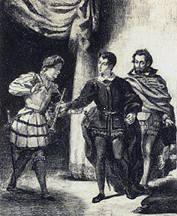 Scene From Hamlet by Eugene Delacroix