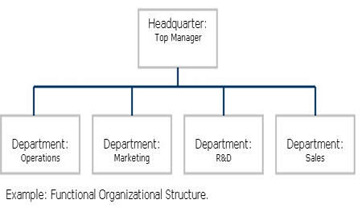 simple organizational structure chart