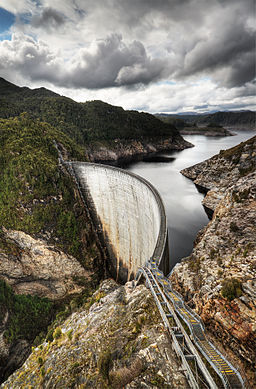 Photo of the Gordon Dam in Australia