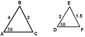 Quiz & Worksheet - Identifying Similar Triangles | Study.com