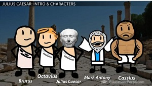a comparison of the characters of brutus and cassius in shakespeares play julius caesar