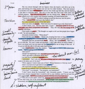 annotating a text