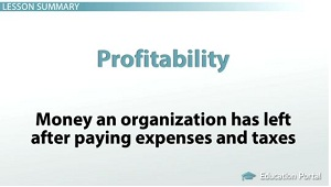 Profitability Is Simply The Money An Organization Has Left Over After  Paying Expenses And Taxes.