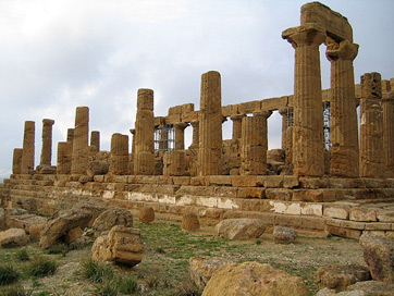 Ruins of Temple of Hera in Agrigento