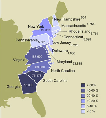 US Slave States Map  History Studycom - Map of the us 1860 slave states free states