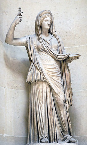 Statue of Hera from the Louvre Museum, Photograph by Marie-Lan Ngyuen