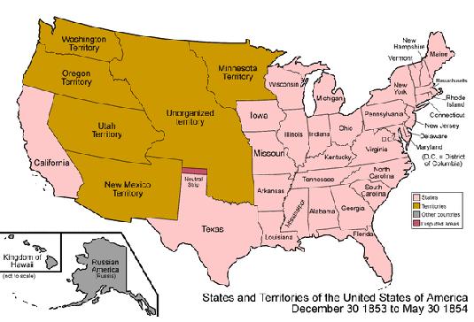 passage of the kansas nebraska act in 1854