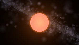 A red giant star