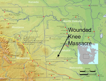 Gallery For Gt Wounded Knee Map