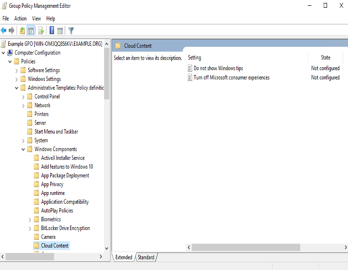 Group Policy Management Console for Windows Server 2016: Explanation
