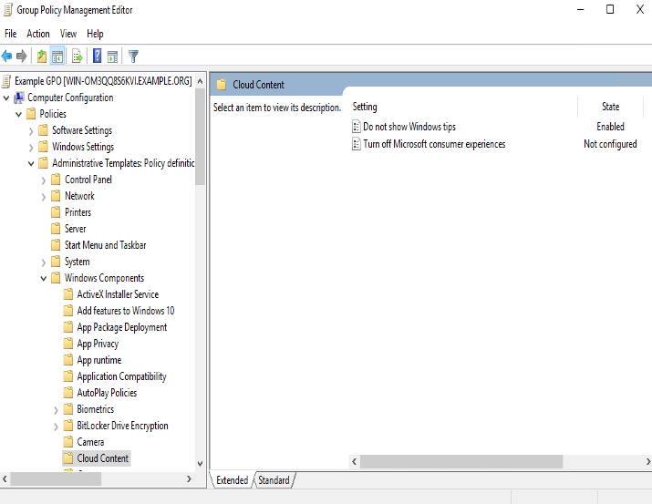Group Policy Management Console for Windows Server 2016