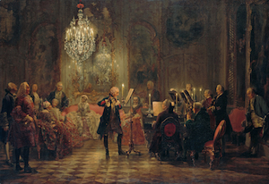 Painting of CPE performing with Frederick II