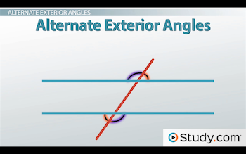 Parallel lines how to prove lines are parallel video - Definition of alternate exterior angles ...