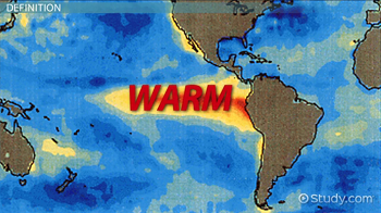 Map with warm Equator
