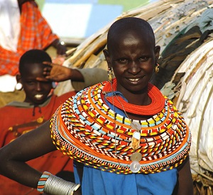 Samburu woman wearing jewelry