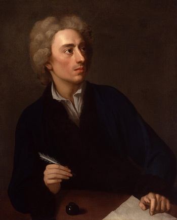 A portrait of Alexander Pope