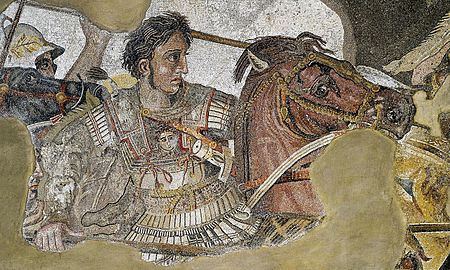Detail of Alexander the Great Alexander Mosaic
