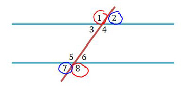 alternate exterior angles definition theorem video lesson transcript