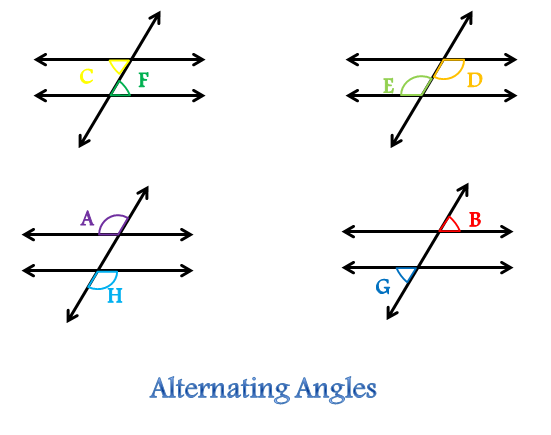 Alternating Angles of a Transversal