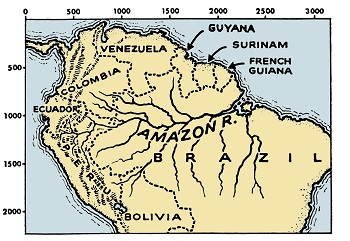 Amazon River Facts Lesson For Kids Studycom - Amazon river map