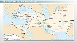 Ancient World Road Building Map