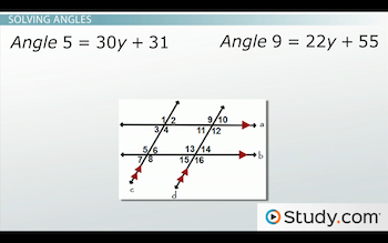 diagram for solving angles problems