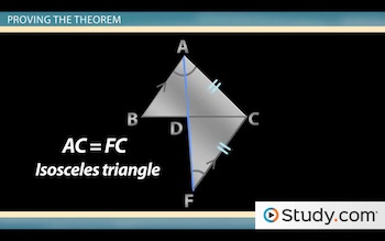 extended triangle to prove angle bisector