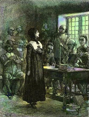 Portrait of Anne Hutchinson at Trial by Edwin Austin Abbey